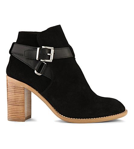 KG KURT GEIGER Scarlett suede heeled ankle boots (Black