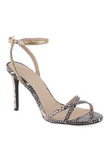 KG KURT GEIGER Horizon snake-print sandals