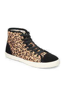 KG KURT GEIGER Leap leopard-patterned high-top trainers