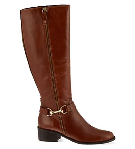 CARVELA Waffle knee-high boots (Tan
