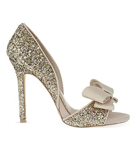 MISS KG Gabriella glitter heeled sandals (Nude