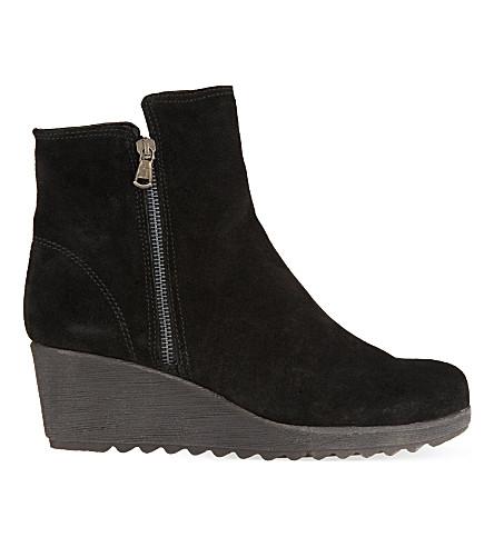 carvela comfort wedge ankle boots selfridges