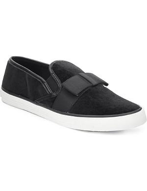 CARVELA Laila velvet skate loafers