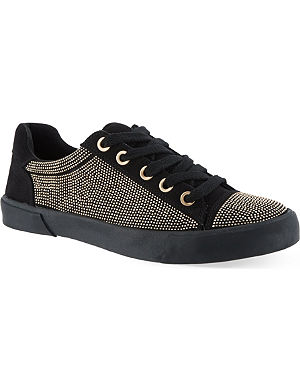 CARVELA Lock embellished trainers