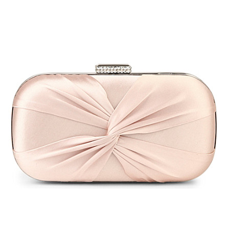 CARVELA Guest satin clutch (Nude