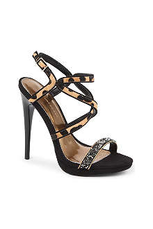 KG KURT GEIGER Howl leather heeled sandals