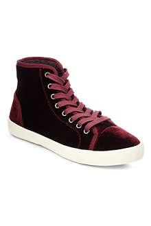 KG KURT GEIGER Leap velvet high-top trainers
