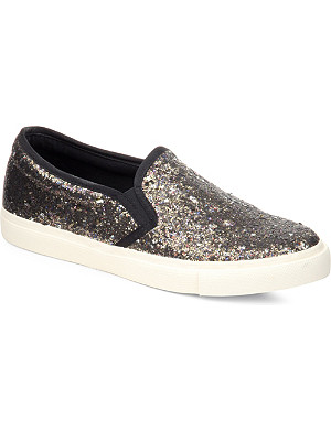 KG KURT GEIGER Lisbon glitter slip-on trainers