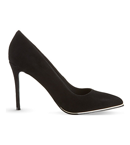 KG KURT GEIGER Beauty suede courts (Black