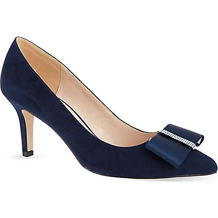 NINE WEST Tiffany suede courts (Navy