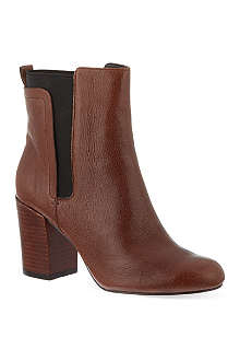 NINE WEST Saga leather ankle boots