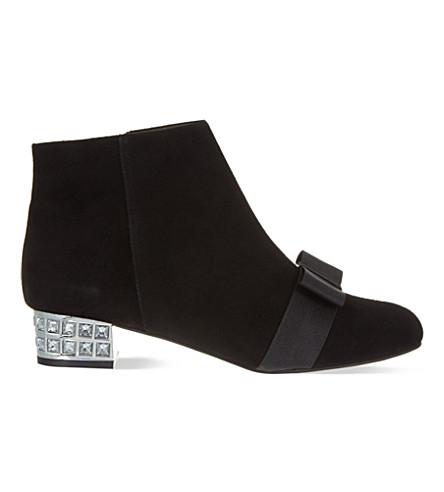 KG KURT GEIGER Solo suede ankle boots (Black