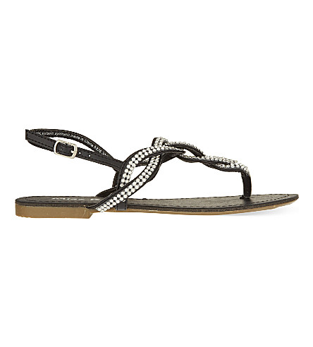 MISS KG Danni embellished sandals (Black