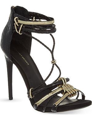 KG KURT GEIGER Native heeled snake sandals