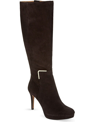 NINE WEST Evah heeled suede knee-high boots