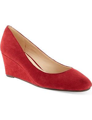 NINE WEST Ispy suede wedge heels