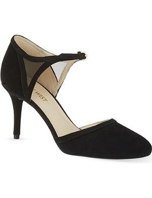 NINE WEST Ecentric suede sandals