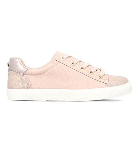 CARVELA Light reptile-embossed leather trainers (Pale+pink