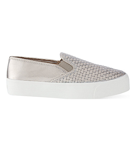 CARVELA Lagos woven slip-on trainers (Pewter
