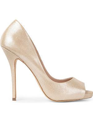 KG KURT GEIGER Dreamie peep toe court shoes