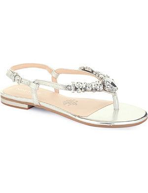 NINE WEST Zui3 jewel-encrusted sandals