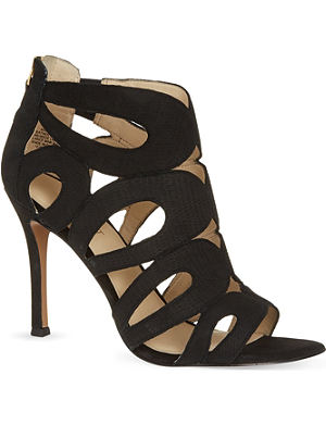 NINE WEST Flora leather court heels