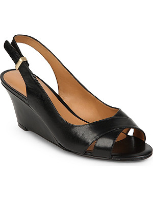 NINE WEST Perceive leather wedge sandals