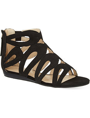 NINE WEST Turntable nubuck sandals