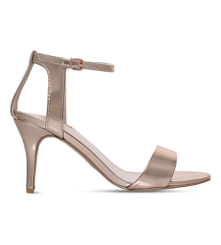CARVELA Kollude open-toe metallic sandals (Bronze