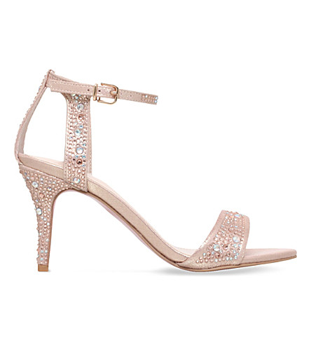 CARVELA Kollude embellished satin sandals (Pink