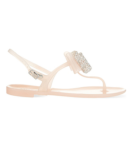 MISS KG Daisy jelly sandals (Nude