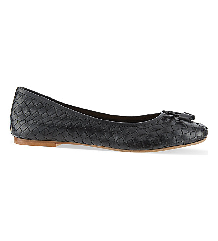 CARVELA Luggage woven ballet flats (Black