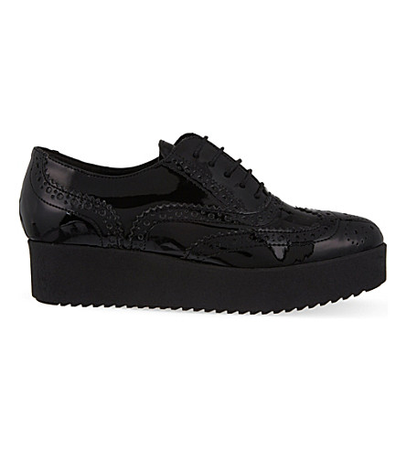 CARVELA Leslie patent leather brogues (Black