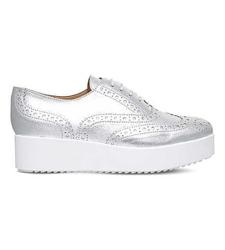 CARVELA Leslie platform leather brogues (Silver