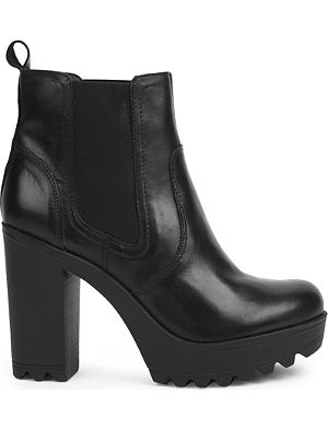 KG KURT GEIGER Silver heeled ankle boots