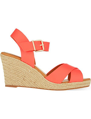 MISS KG Pineapple wedge espadrilles