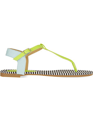 MISS KG Rue striped sandals