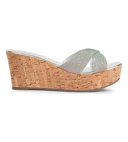 CARVELA Kable metallic wedge sandals (Silver