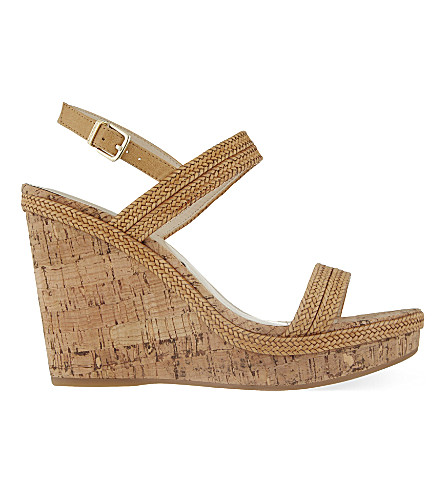 CARVELA Kay braided wedge sandals (Tan