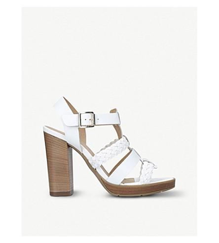 CARVELA Krill leather heeled sandals (White