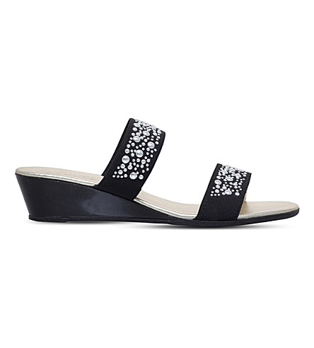 CARVELA COMFORT Sage embellished sandals (Black