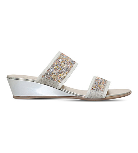 CARVELA COMFORT Stella studded wedge sandals (Taupe