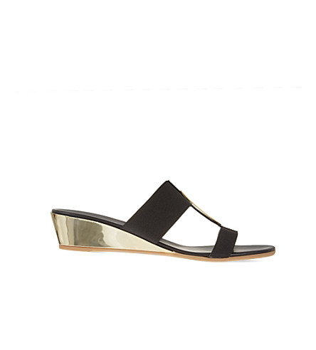 CARVELA COMFORT Suri double-strap wedge sandals (Black