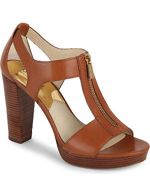 MICHAEL MICHAEL KORS Berkley T-strap leather heeled sandals