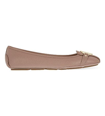 MICHAEL MICHAEL KORS Fulton saffiano leather mocassins (Pale+pink