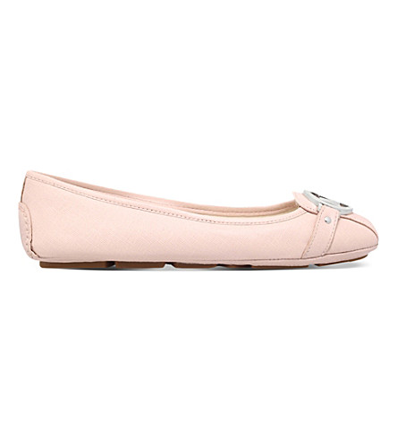 MICHAEL MICHAEL KORS Fulton moc leather pumps (Pale+pink
