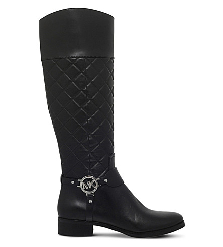 MICHAEL MICHAEL KORS Fulton harness leather boots (Black