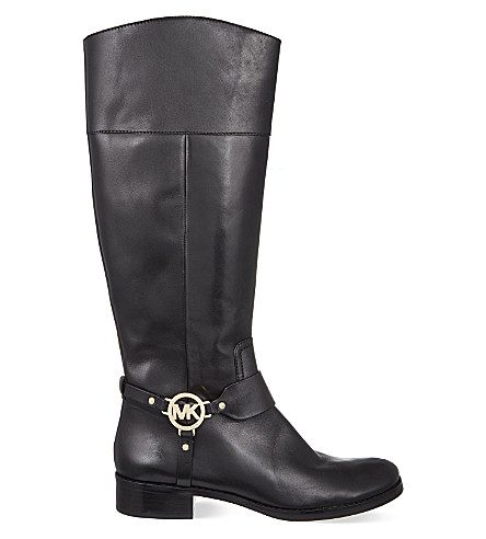MICHAEL MICHAEL KORS Fulton knee-high boots (Black/comb