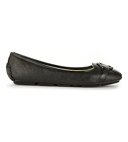 MICHAEL MICHAEL KORS Fulton Moc leather pumps (Blk/other