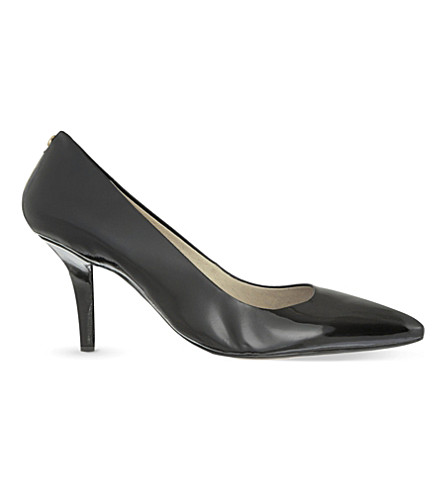 MICHAEL MICHAEL KORS Flex patent-leather courts (Black